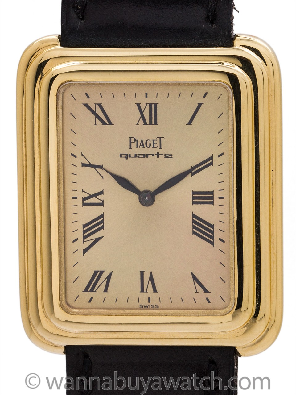 Piaget 18K YG Stepped Case circa 1980's