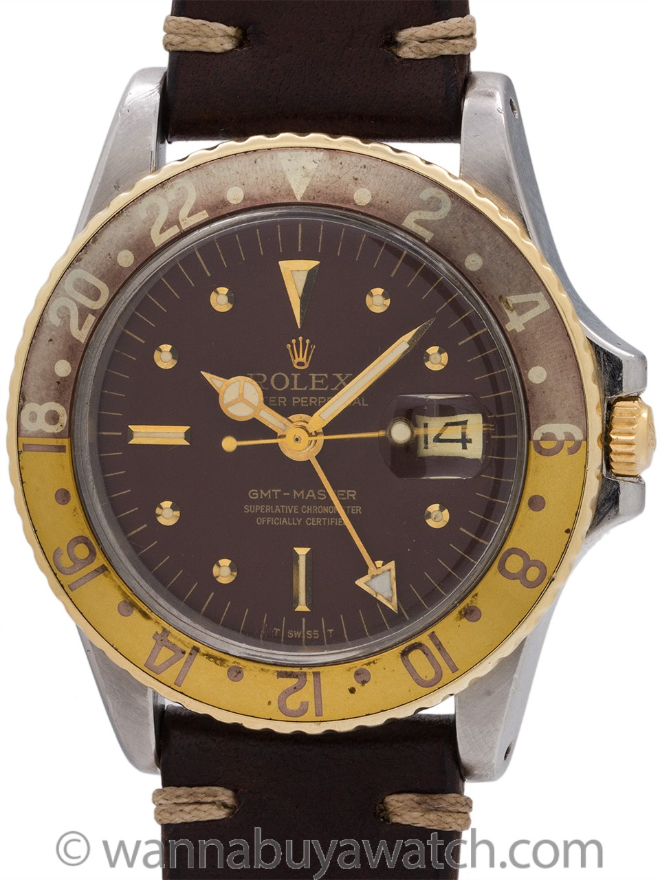 "Rolex 2 Tone GMT ref 1675 ""Chocolate"" circa 1971"
