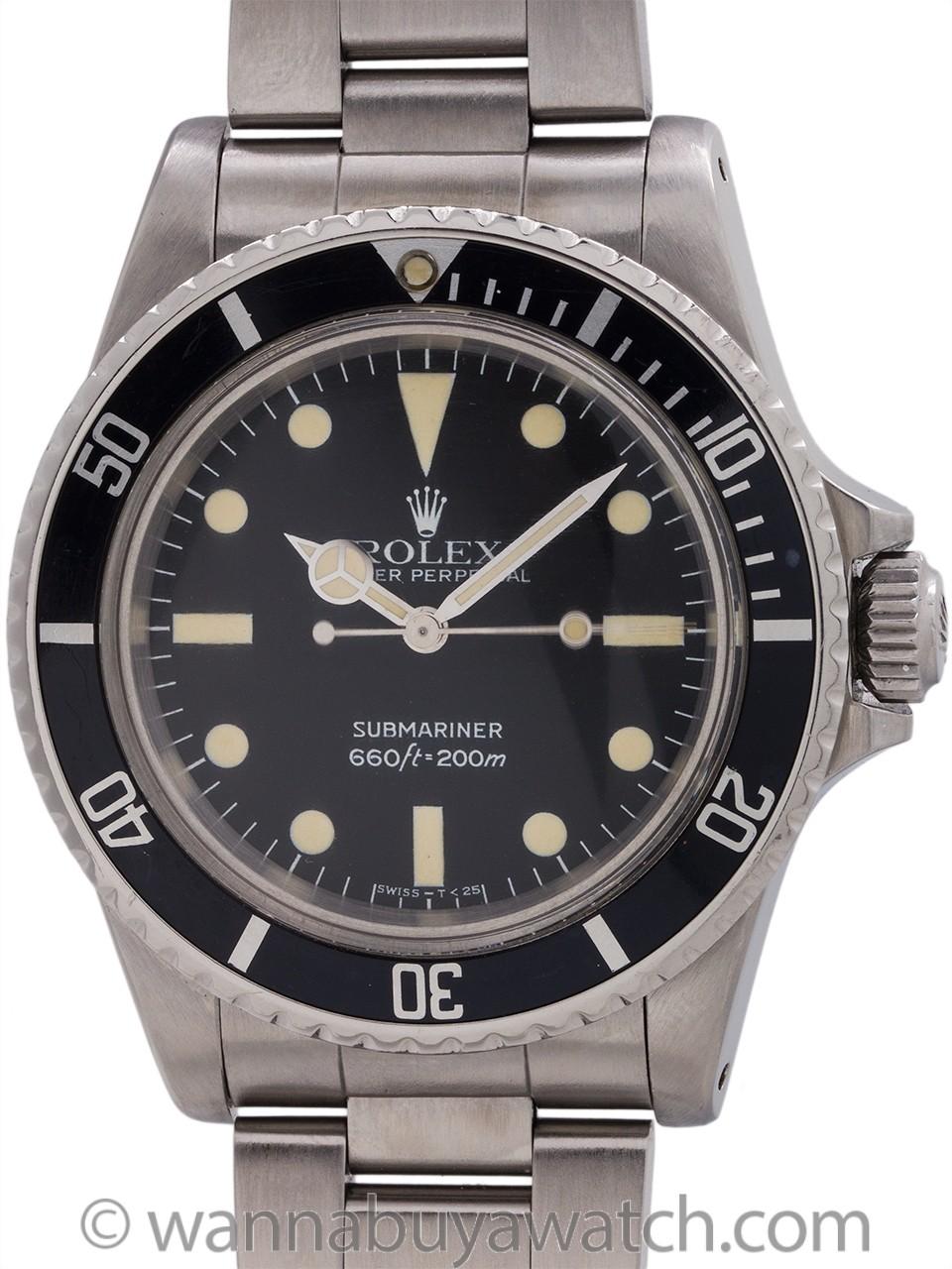 Rolex Submariner ref# 5513 Maxi Dial circa 1978