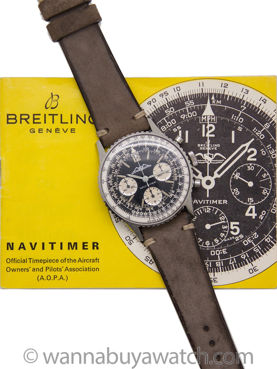 Vintage Breitling Navitimer ref 806 AOPA circa 1960's Box & Booklet