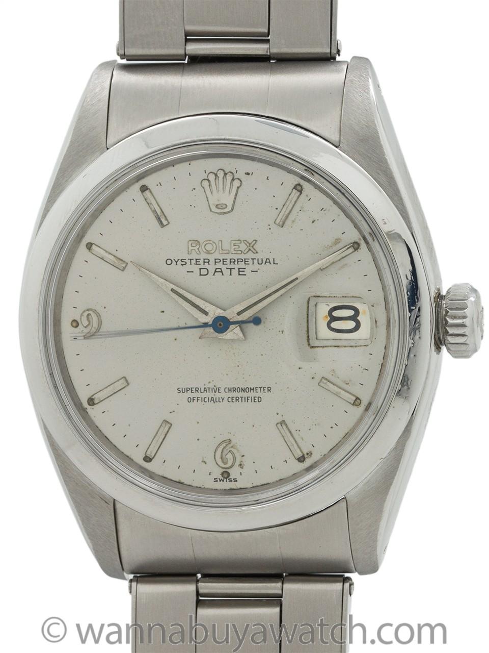 Rolex Oyster Perpetual Date ref 1500 Original Dial circa 1960