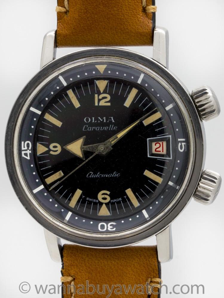 Olma Swiss Super Compressor Diver's circa 1960's