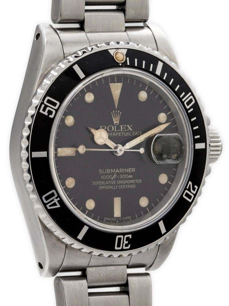 "Rolex Submariner ref# 16800 Transitional Model ""Tropical"" circa 1983"