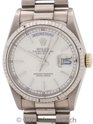Rolex Day Date President ref# 18239 18K WG circa 1988