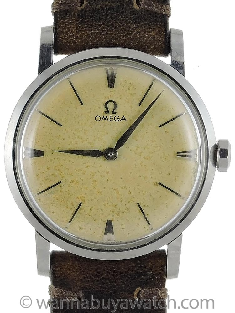 Omega Stainless Steel Manual Wind ref# 14371 circa 1958