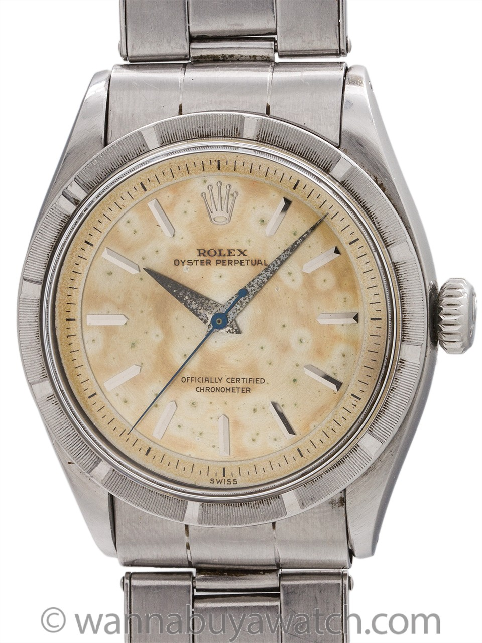 Rare Rolex Oyster Perpetual ref 6303 Stainless Steel circa 1954