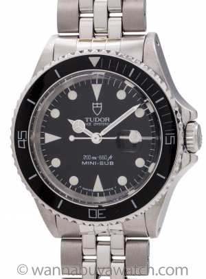 Tudor Stainless Steel Mini-Sub ref 73090 circa 1987
