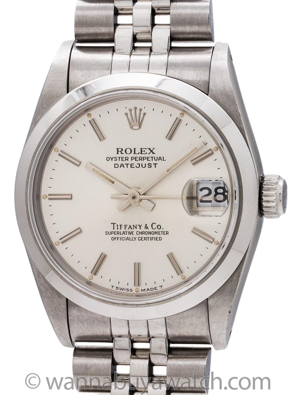 Rolex Midsize Datejust Tiffany & Co ref 68240 circa 1991