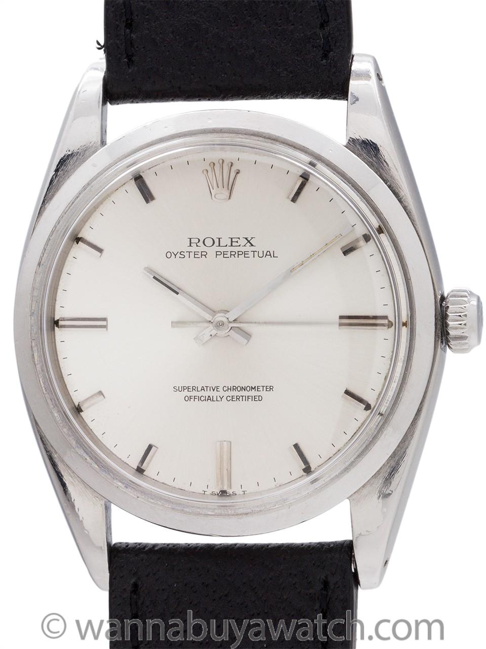 Rolex Oyster Perpetual ref# 1018 circa 1967 Chronometer Certificate