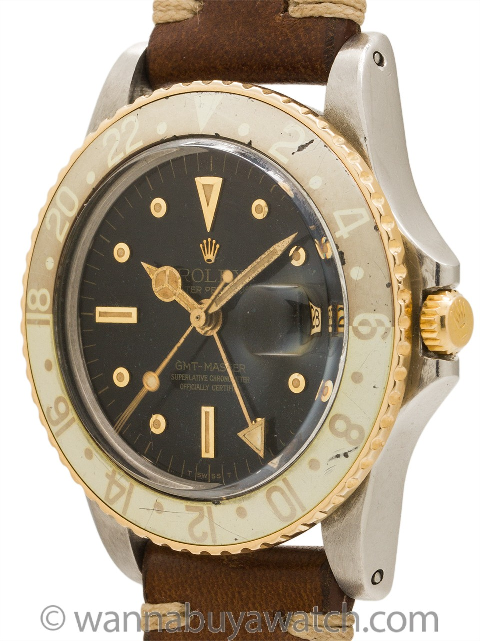 Rolex GMT ref# 1675 SS & 14K YG circa 1973