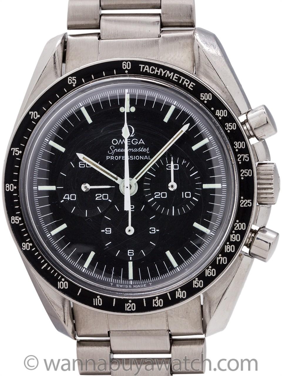 "Omega Speedmaster ref 145.022-69 ""Straight Line Caseback"" circa 1974"