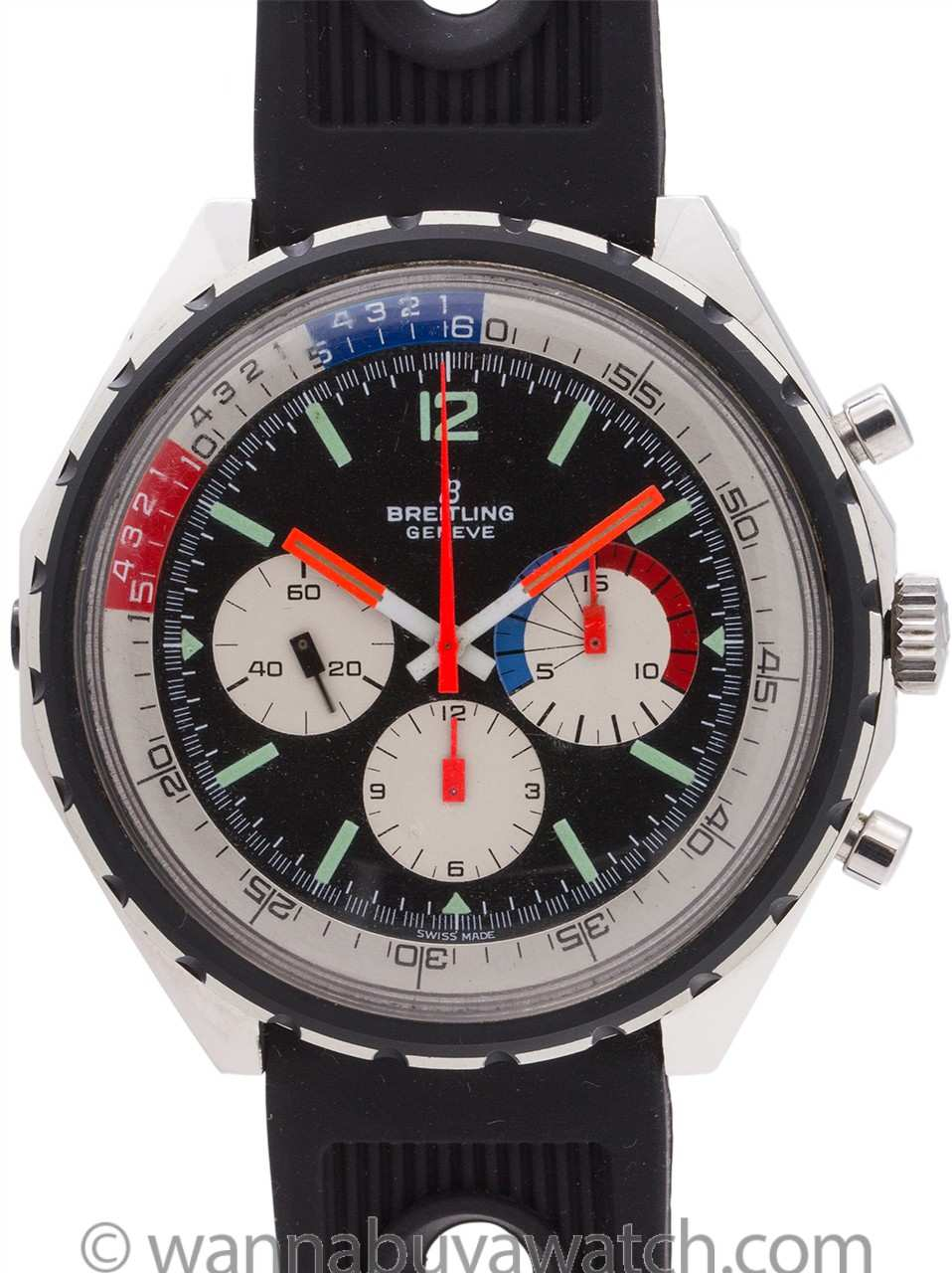 Breitling Co-Pilot Yachting Chronograph ref 7652 Mint! circa 1970's