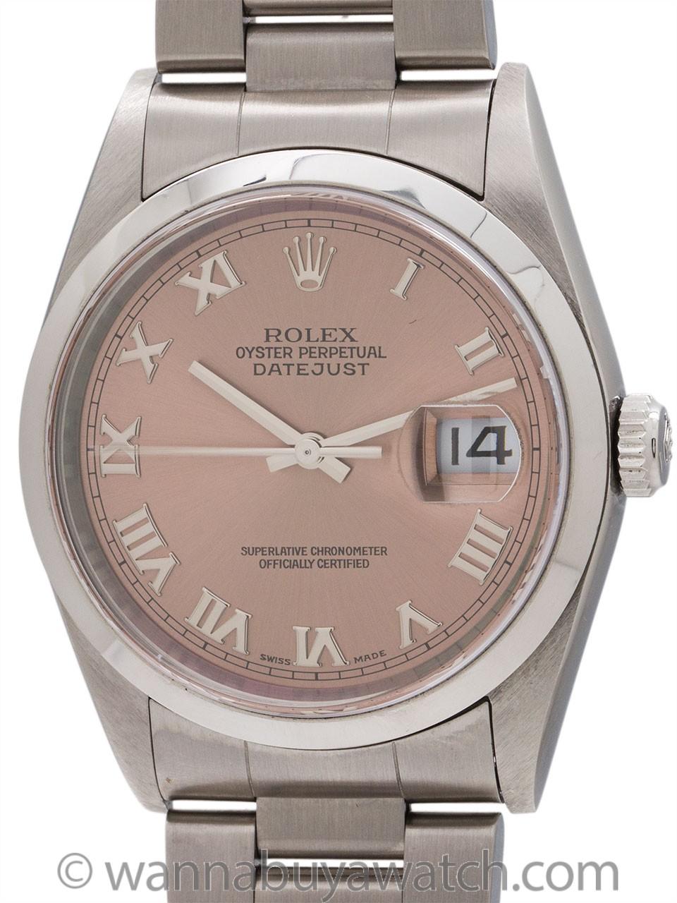 Rolex SS Datejust Salmon Dial circa 1996