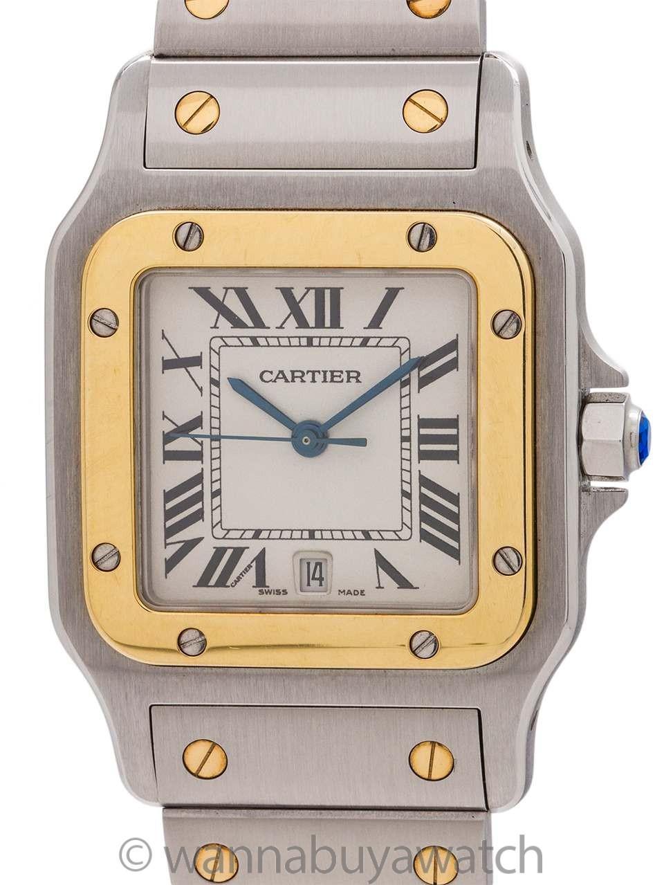 Cartier Santos Galbe Stainless & 18K YG ref 57326 circa 1990s