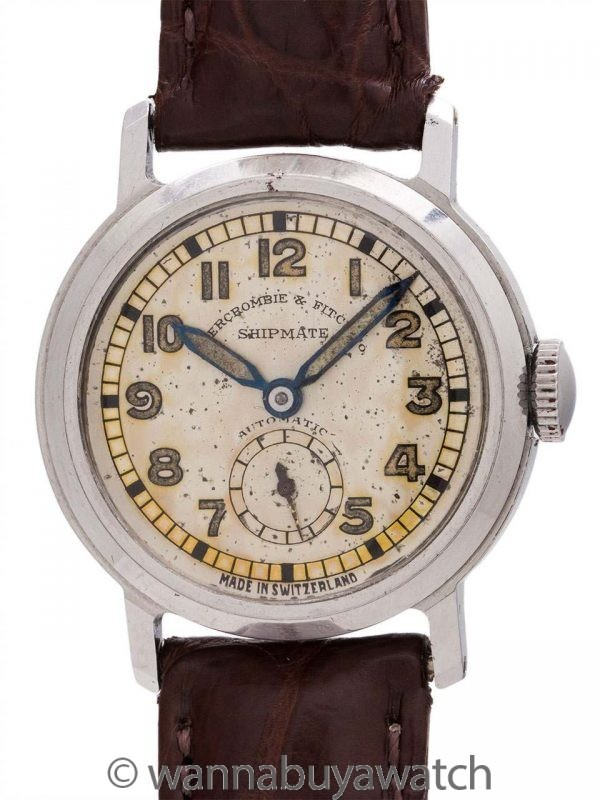 "Abercrombie and Fitch Co. Automatic ""Shipmate"" circa 1940's"