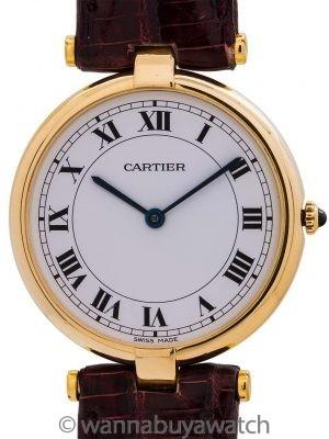 Cartier Man's Vendome Tank 18K YG circa 1980's