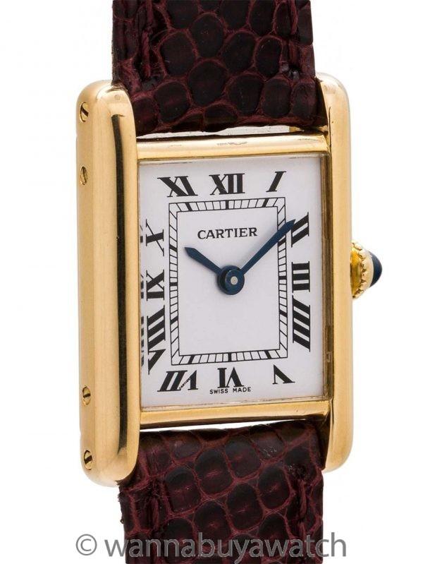 Cartier Lady's 18K Gold Tank Louis circa 1970's