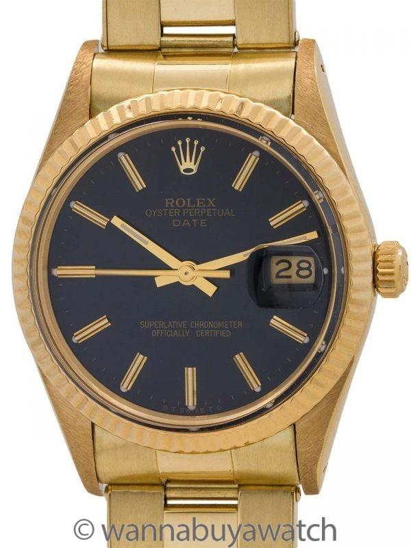 Rolex Oyster Perpetual Date ref 15038 18K YG circa 1985