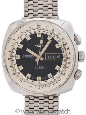 Mondia Swiss Memory Calculator w/ World Time Caseback circa 1970's