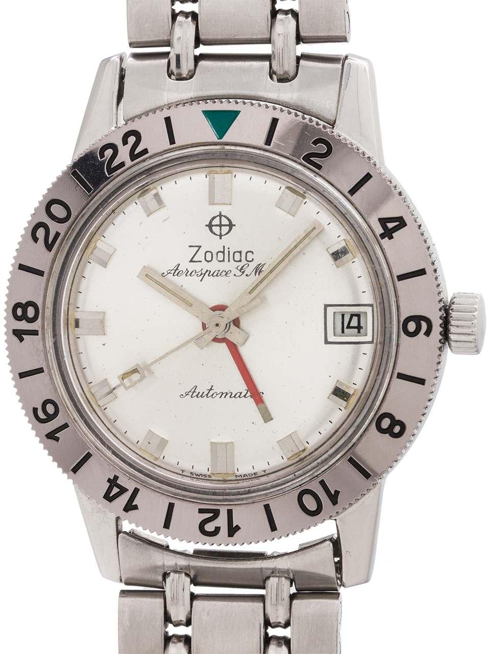 Zodiac SS Aerospace GMT Mint with Bracelet circa 1960's