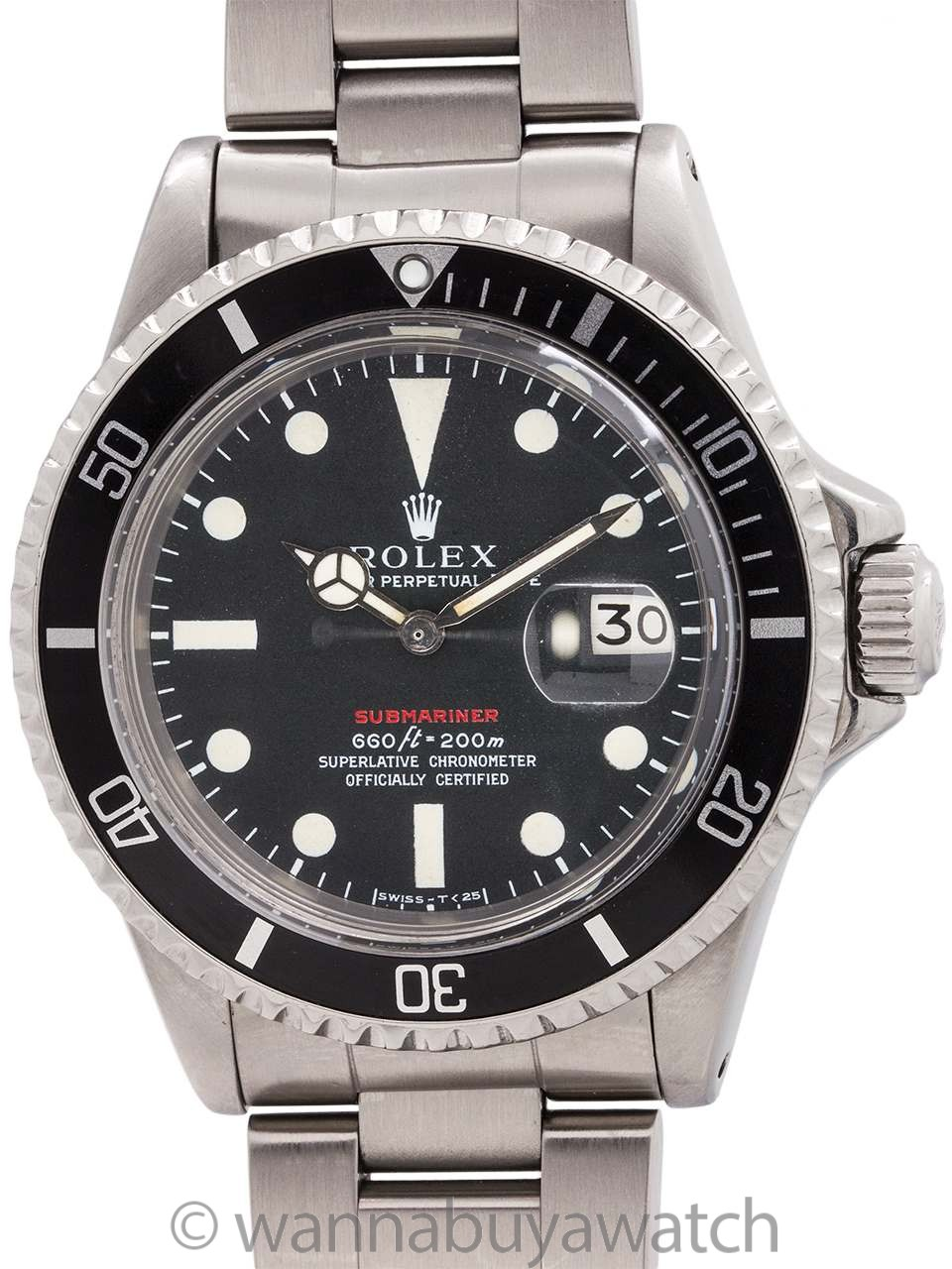 Rolex ref 1680 Red Submariner Mk IV Dial circa 1969