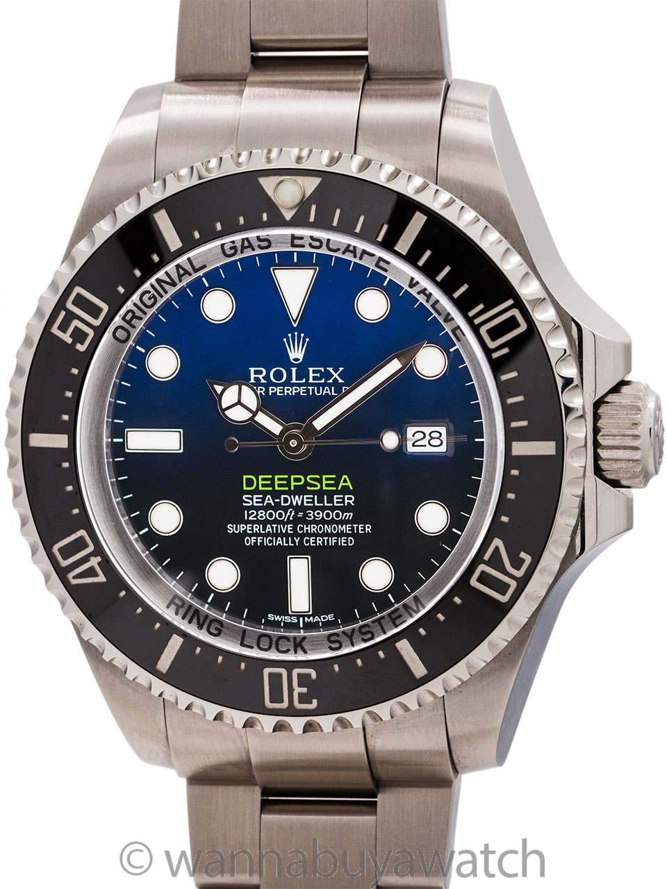 Rolex Deepsea Deep Blue James Cameron circa 2014