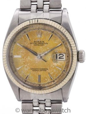 "Rolex Datejust ref 1601 Stainless Steel ""Tropical"" circa 1963"