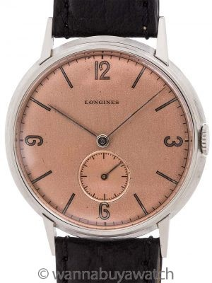 Longines Stainless Steel Dress Model circa 1942