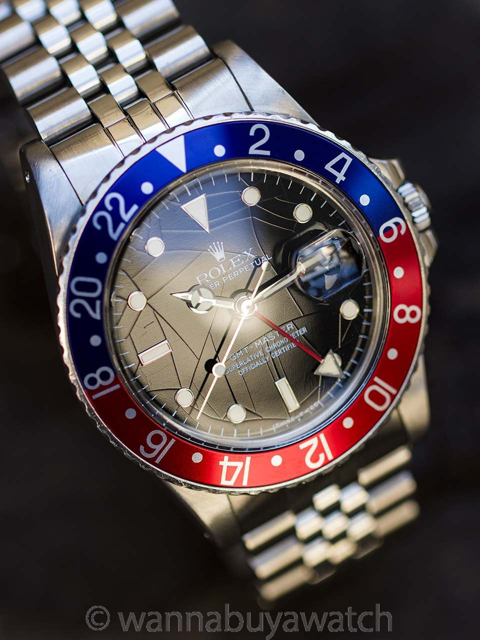 "Rolex GMT ref 16750 Spider Dial Tritium ""No Date"" circa 1984"