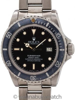 "Rolex Submariner ref# 16800 Transitional Model ""Ghost Bezel"" circa 1984"