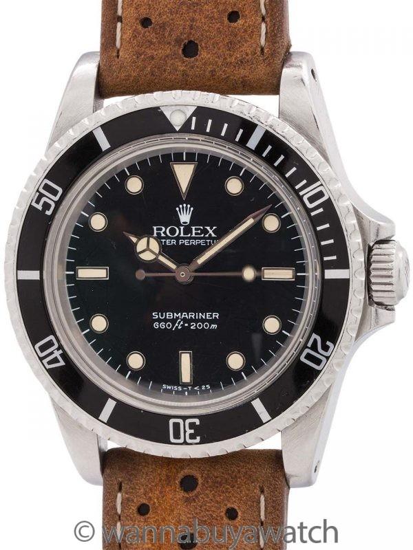 Rolex Submariner ref 5513 Tropical Spider Dial circa 1985