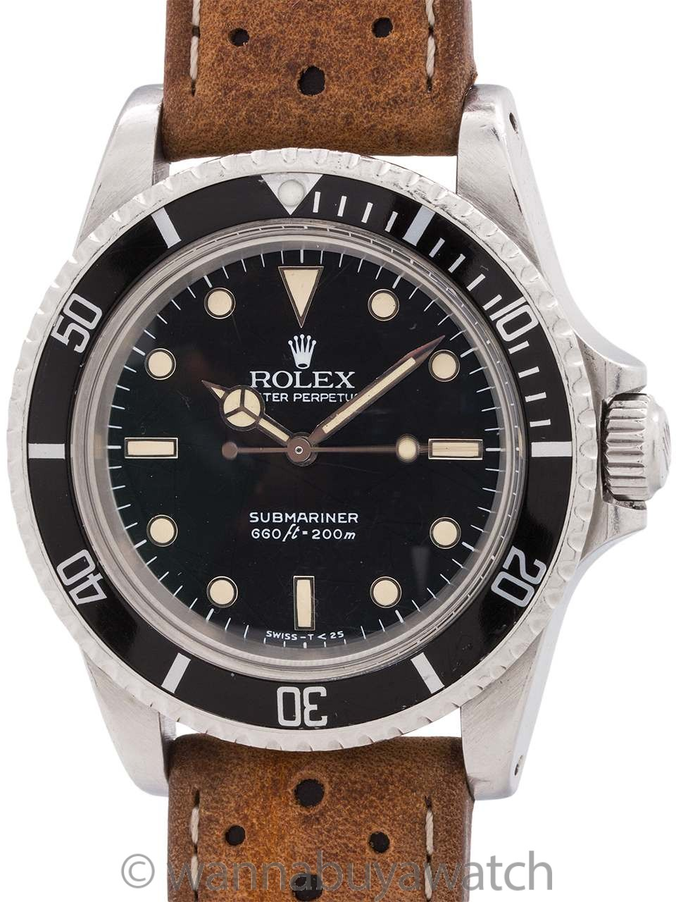 Rolex Submariner ref 5513 Tropical Spider Dial circa 1985