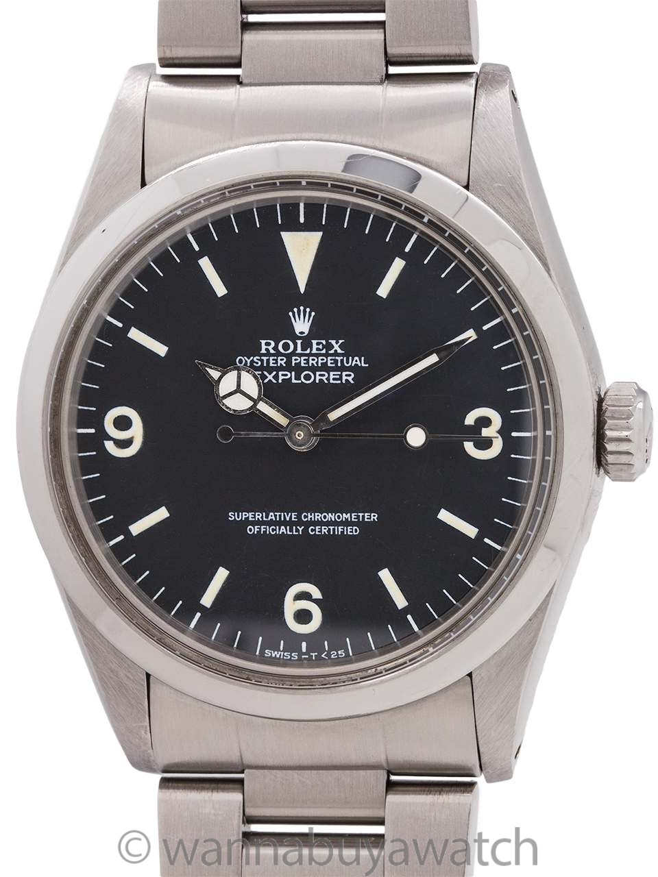 Rolex Explorer 1 ref 1016 Hack Feature circa 1982