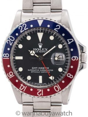 Rolex SS GMT-Master ref 1675 circa 1977