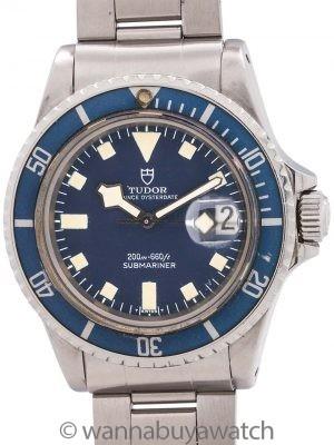 "Tudor Blue ""Snowflake"" Submariner w/ Date ref# 94100 circa 1979"