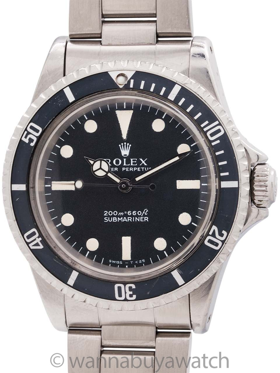 Rolex Submariner ref 5513 Meters First circa 1968