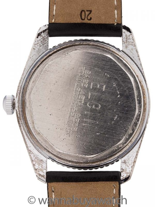 """Elgin Diver's Stainless Steel """"Paul Newman"""" circa 1960's"""