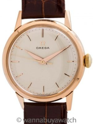 Omega 18K Rose Gold Dress Model circa 1956