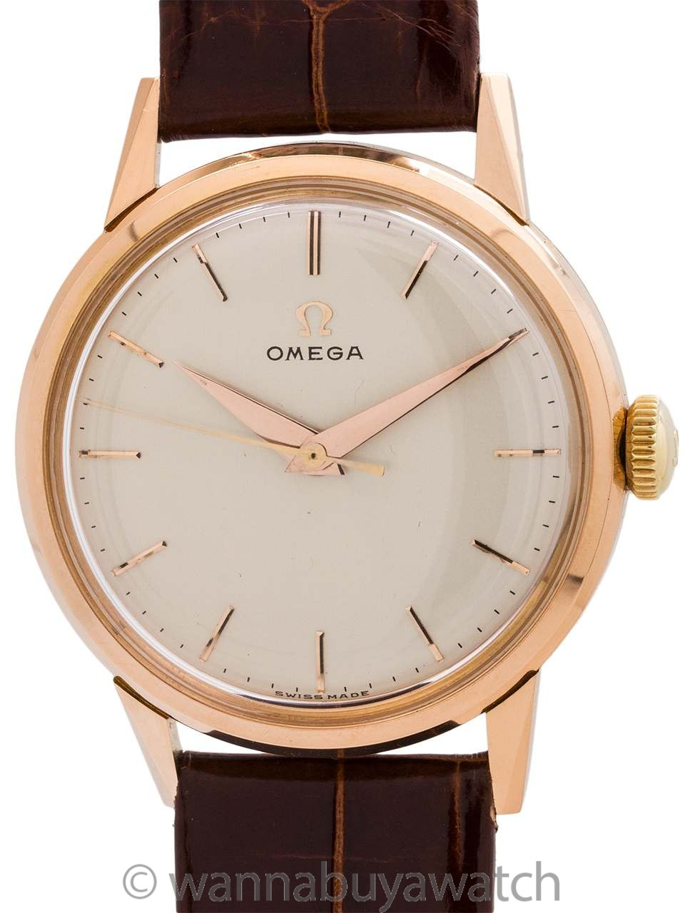Omega 18K Rose Gold Dress Model circa 1956