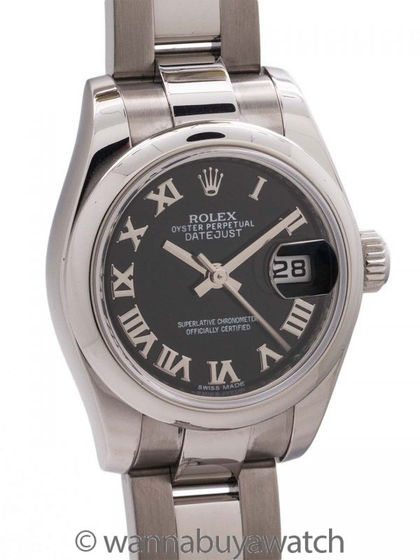 Lady Rolex Datejust ref 179160 SS Box & Papers circa 2012