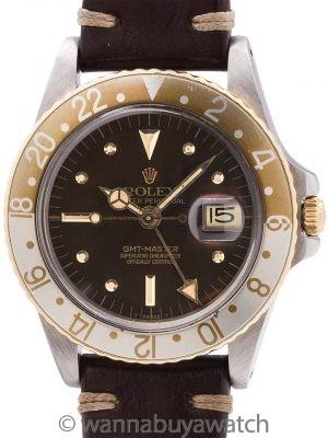 "Rolex GMT SS/14K YG ref 1675 ""Rootbeer"" circa 1978"