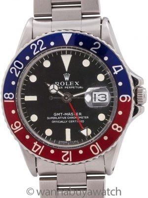 Rolex GMT ref# 1675 Mark 1 Dial circa 1968