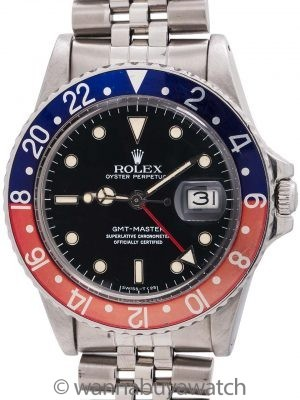 "Rolex GMT ref 16750 Pepsi ""no Date"" circa 1982"