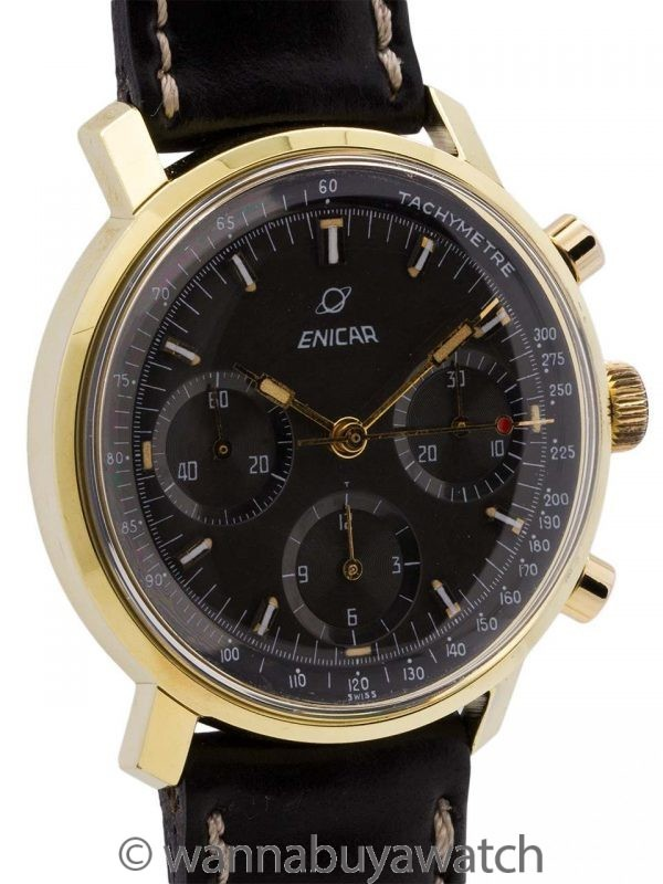 Enicar Chronograph Valjoux 72 circa 1960's