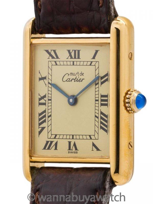 Cartier Tank Louis Man's Vermeil circa 1990's