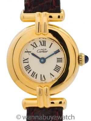 Cartier Lady Must de Colisee Vermeil Quartz circa 1990's