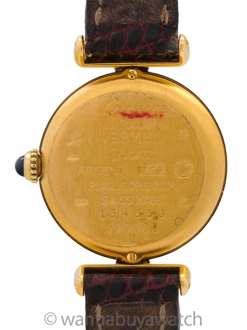 Cartier Lady Must de Colisee Vermeil Quartz circa 1990's