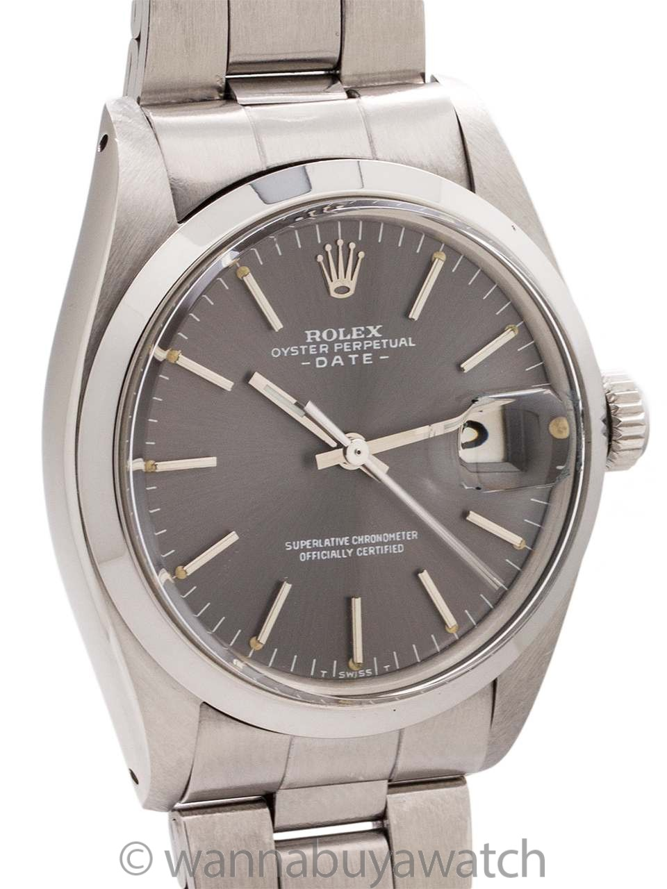 Rolex Oyster Perpetual Date ref 1500 Gray Dial circa 1970