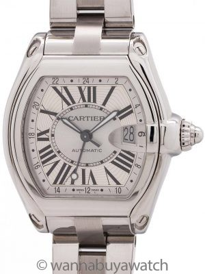 Cartier Roadster XL GMT ref 2722 circa 2000+ with Box