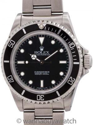 Rolex Submariner ref# 14060 Tritiium circa 1996 Box & Papers